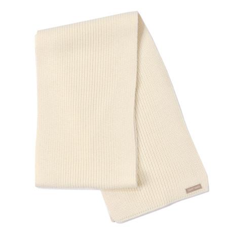 Canoe Soft Wool Scarf // Men's // Off White