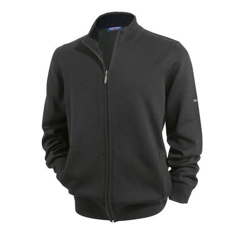 Colorado Comfortable Knit Jacket + Zip // Men's // Anthracite + Navy (S)