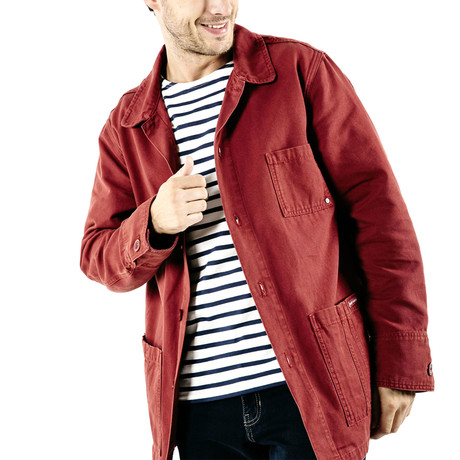 Sirocco Workwear French Chore Jacket // Unisex Fit // Rust (S)