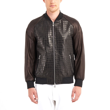 Mead Blouson Leather Jacket // Black (S)