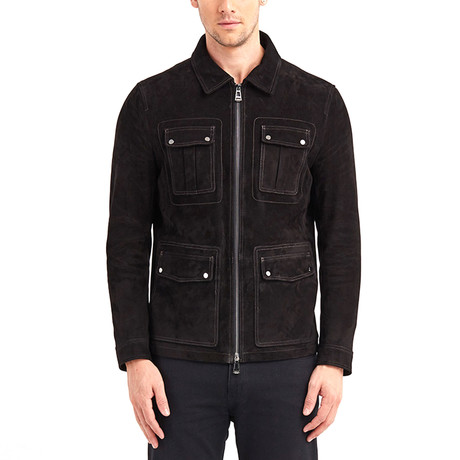 Barkley 4 Pocket Leather Jacket // Black (S)