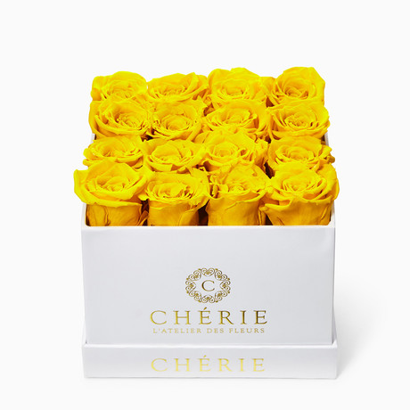 Yellow Roses // White Matte Box