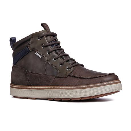 Mattias High Top Sneaker // Dark Coffee + Navy (Euro: 39)