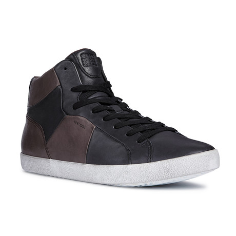 Smart A High Top Sneaker // Black + Coffee (Euro: 39)