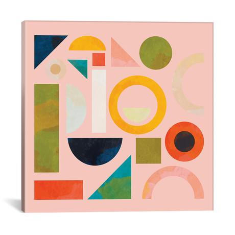 """Geometric Play Modern Art // Ana Rut Bré (12""""W x 12""""H x 0.75""""D)"""