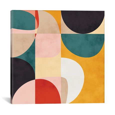 "Modern Shapes VII // Ana Rut Bré (12""W x 12""H x 0.75""D)"