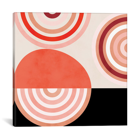 "Shapes Modern Mid Century Abstract // Ana Rut Bré (12""W x 12""H x 0.75""D)"