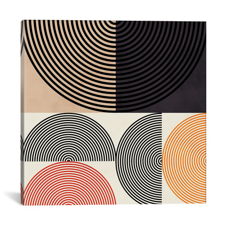 "Lines & Shapes Ii // Ana Rut Bré (12""W x 12""H x 0.75""D)"