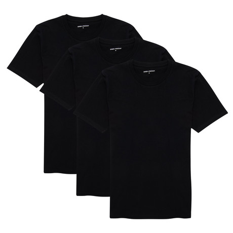 T-Shirt // Black // Set of 3 (XS)