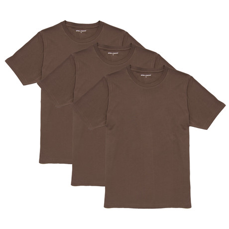 T-Shirt // Brown // Set of 3 (XS)