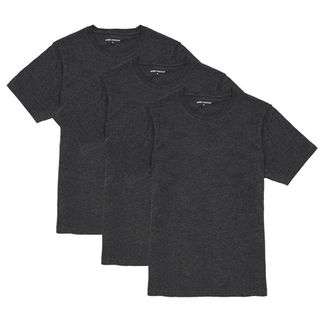 T-Shirt // Charcoal // Set of 3 (XS)