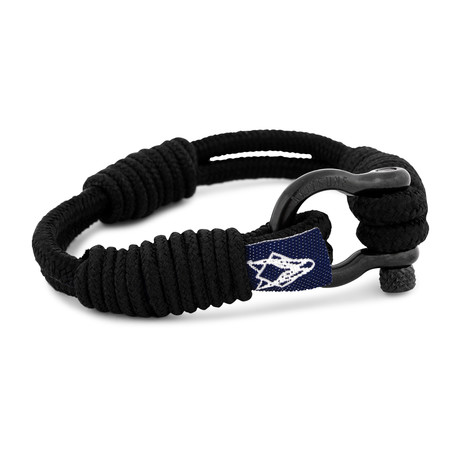 "Princeps Nautical Bracelet // Black (6.7"")"