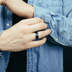 Seiryu Ring // Black + Blue (Size 6)