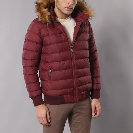 Gomes Coat // Burgundy (Euro: 44)