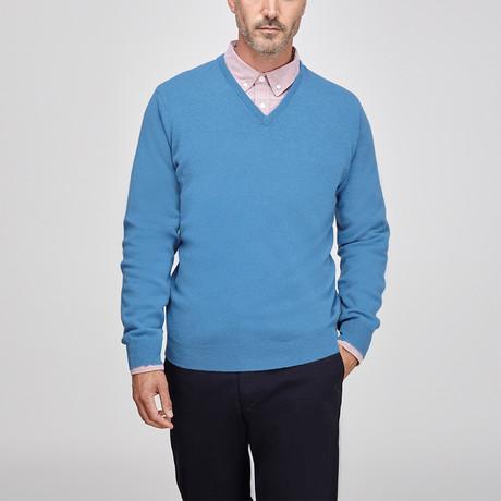 Cashmere Vee // Mid Blue (S)