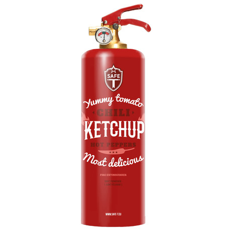 Safe-T Design Fire Extinguisher // Ketchup