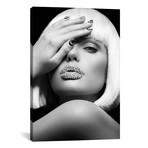 """Diamond Lips BW // Design Fabrikken (12""""W x 18""""H x 0.75""""D)"""