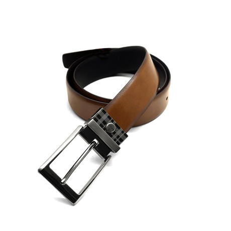 Harrison Reversible Leather Belt // Tan + Black (32)