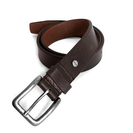 Darius Casual Leather Belt // Brown (32)