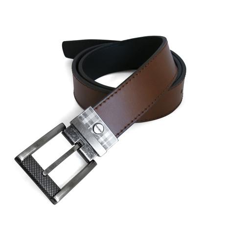 John Reversible Leather Belt // Tan + Black (32)