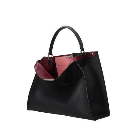 Fendi // Peekaboo X-Lite Large Top-Handle Bag // Navy + Pink + Burgundy