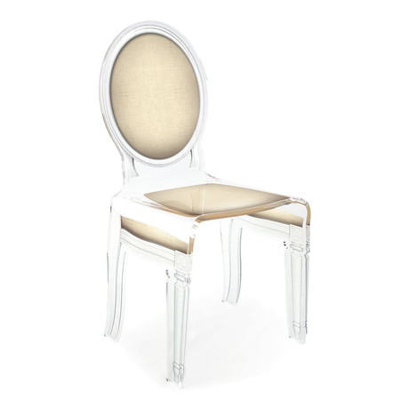 Sixteen Chair // Light Taupe + White Outline