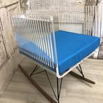 Cali Rocking Armchair + Pigeon Blue Cushion