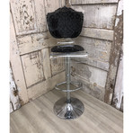 Capiton Barstool + Adjustable Pedestal Base // Black