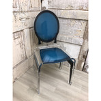 Sixteen Chair // Pigeon Blue + Black Outline