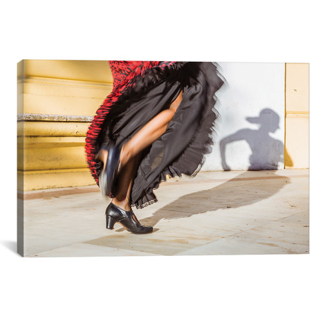"Flamenco Dancer In Seville, Andalusia, Spain // Matteo Colombo (18""W x 12""H x 0.75""D)"