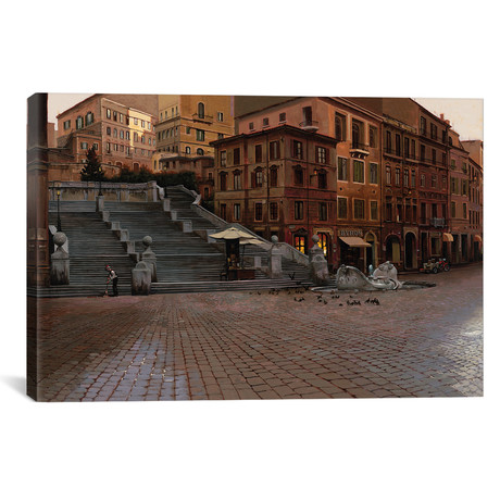 "Spanish steps // Maher Morcos (18""W x 12""H x 0.75""D)"