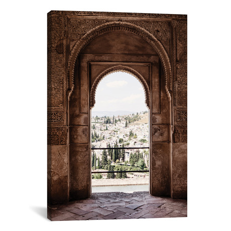 "View of the city of Granada // Philippe Hugonnard (12""W x 18""H x 0.75""D)"