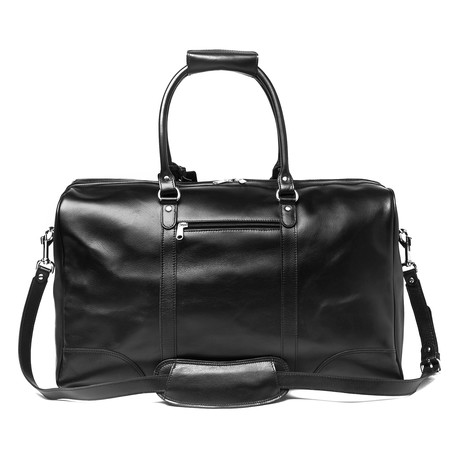 "Tourist Leather Duffel Bag 21"" // Black"