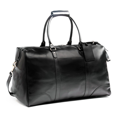 "Tourist Leather Duffel Bag 20.5"" // Black"