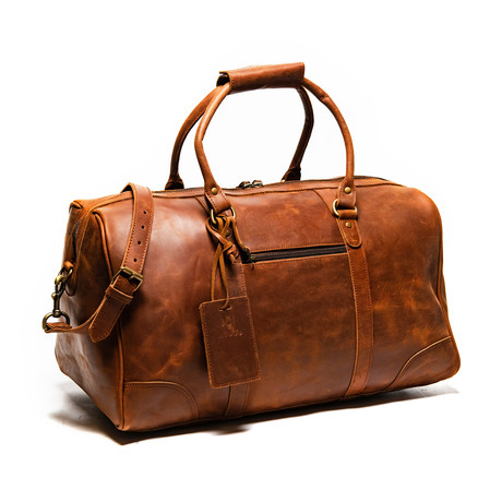 "Tourist Leather Duffel Bag 19.5"" // Distressed Brown"