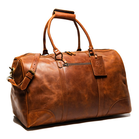 "Tourist Leather Duffel Bag 23"" // Distressed Brown"