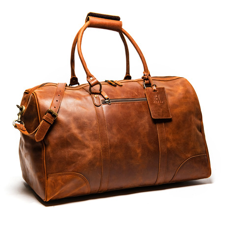 "Tourist Leather Duffel Bag 21"" // Distressed Brown"