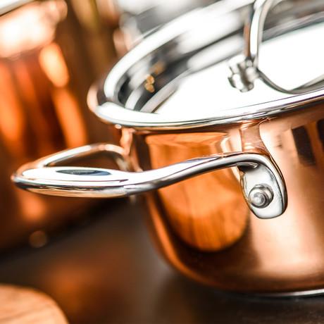 Copper Deep Pot (20 cm)
