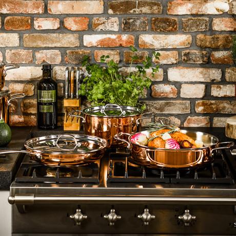 Copper Cookware Set (3 Piece Set)