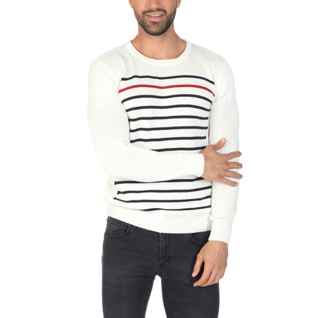 Simon Sweater // Ecru + Navy (XS)