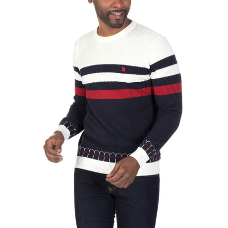 Daniel Sweater // Ecru + Navy (XS)