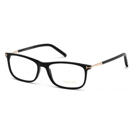 Unisex Rectangular Eyeglasses // Black III