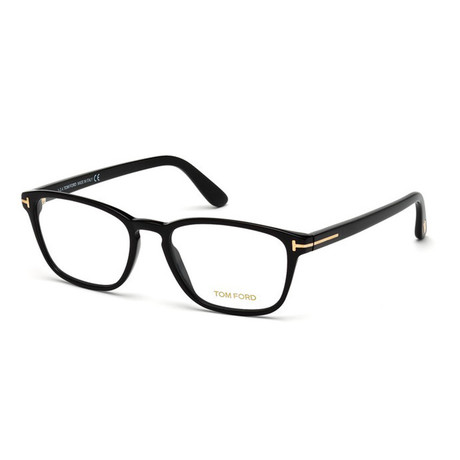 Unisex Rectangular Eyeglasses // Black