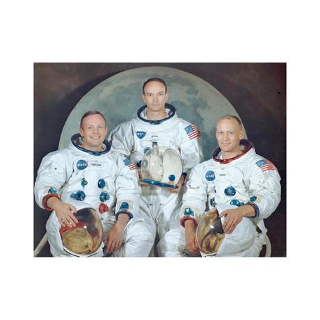 "Apollo 11 Moon Landing Crew (16""W x 12""H)"