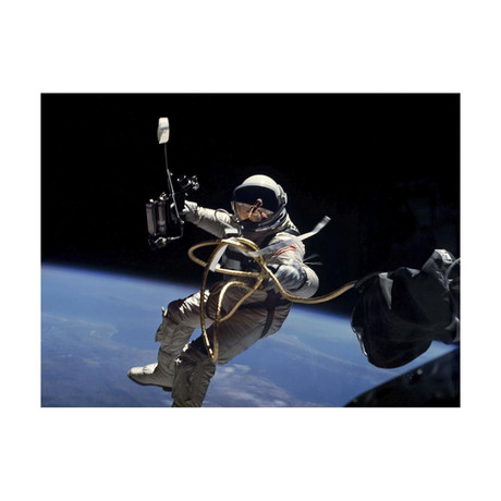 "Astronaut Edward White // EVA Performed During Gemini 4 Flight (16""W x 12""H)"