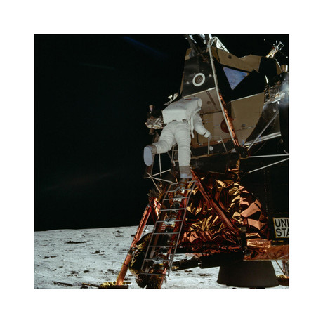 "Buzz Aldrin // Walk on the Moon Preparations (16""W x 16""H)"