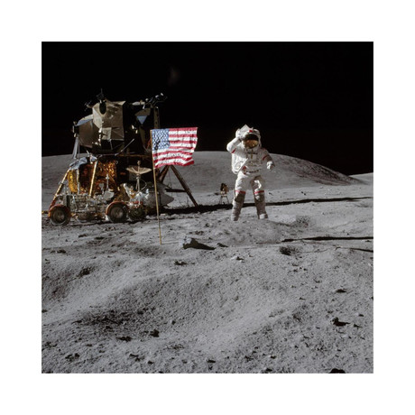"""Moonwalk //  Apollo 16 // 1972 (18""""W x 18""""H)"""