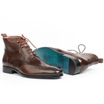 Wingtip Ankle Boots // Brown (Euro: 46)