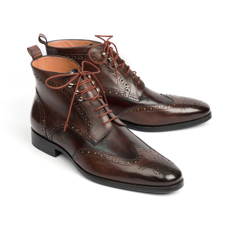 Wingtip Ankle Boots // Brown (Euro: 37)