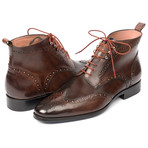Wingtip Ankle Boots // Brown (Euro: 43)